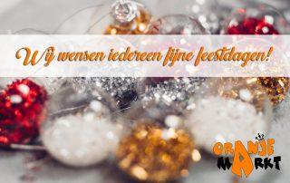 Fijne feestdagen_Oranjemarkt Veldhoven