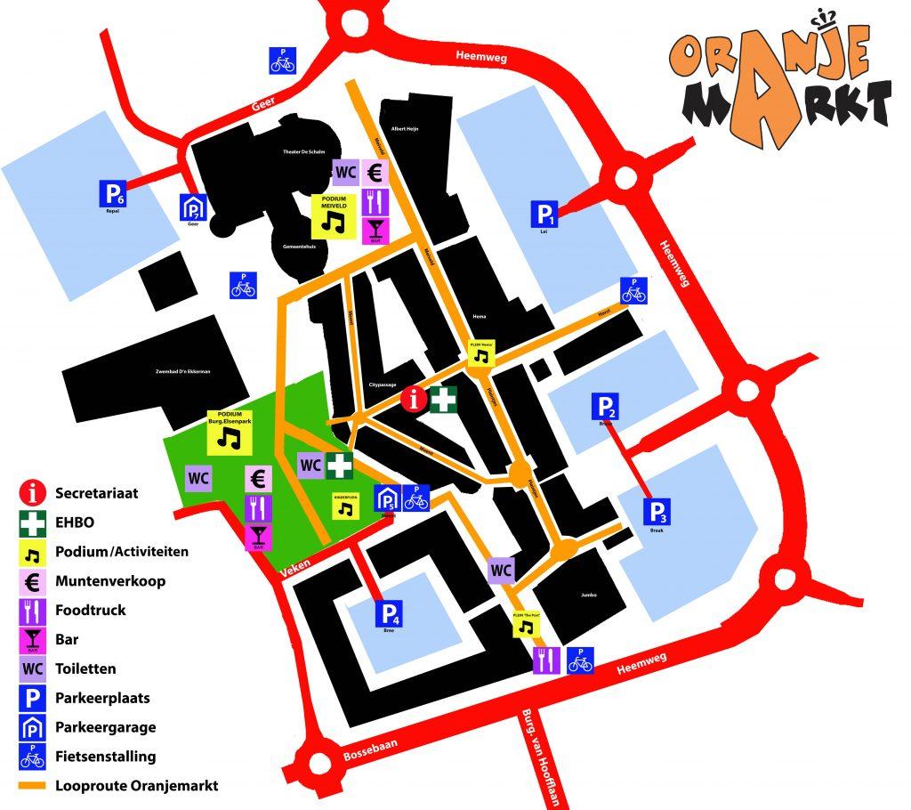 Plattegrond Oranjemarkt Veldhoven