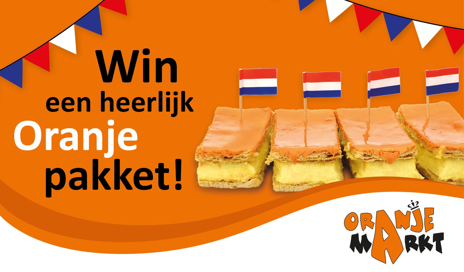 Oranjemarkt winactie oranje pakket